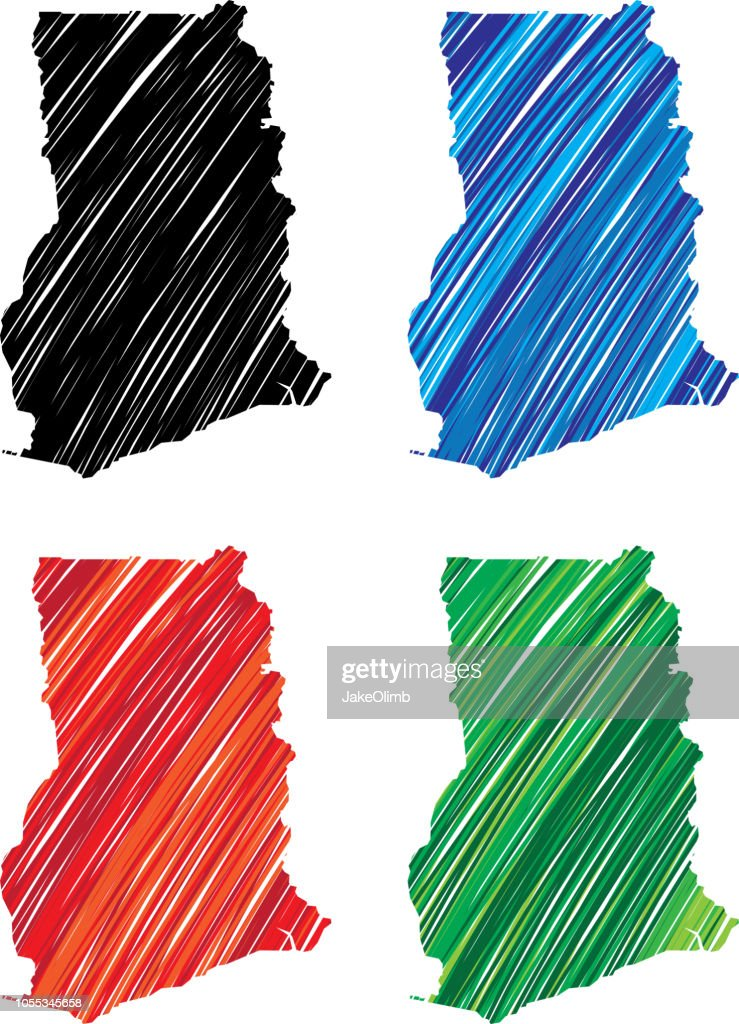 Ghana Scribble : Stock Illustration