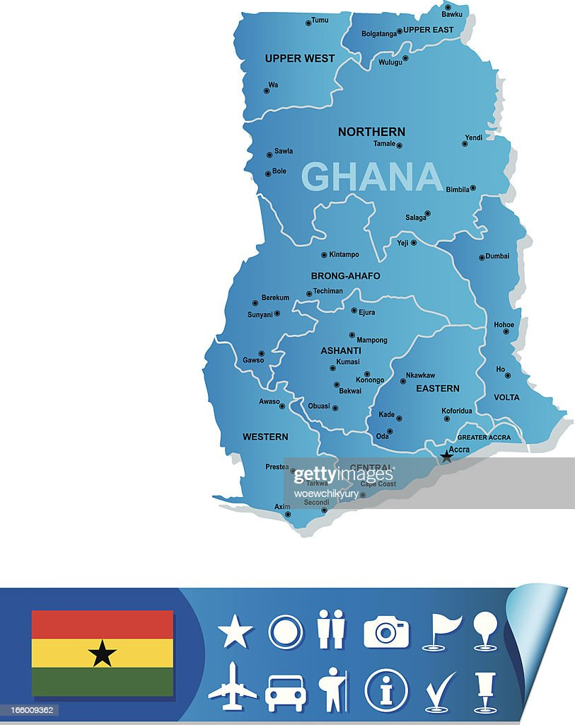 Ghana vector map : stock illustration