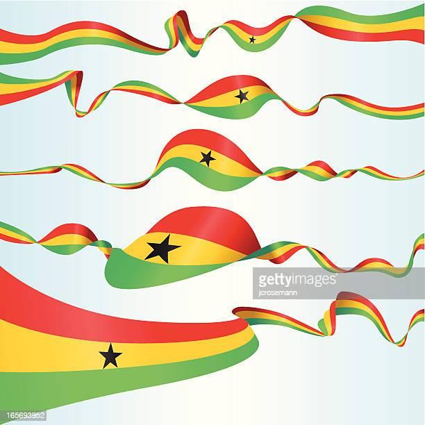 ghanaian banners - ghana flag stock illustrations, clip art, cartoons, & icons