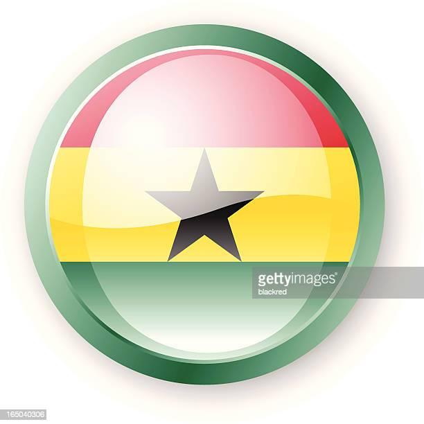 ghanaian flag icon - ghana flag stock illustrations, clip art, cartoons, & icons
