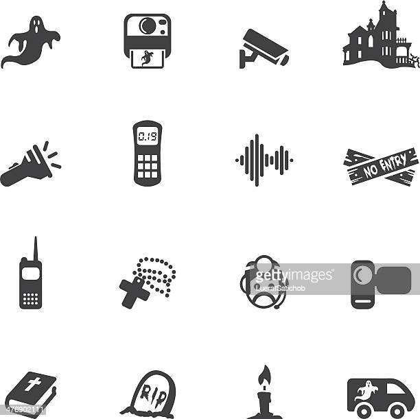 Ghost Hunter Silhouette Icons