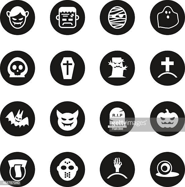 ghost icons - black circle series - murderer stock illustrations, clip art, cartoons, & icons