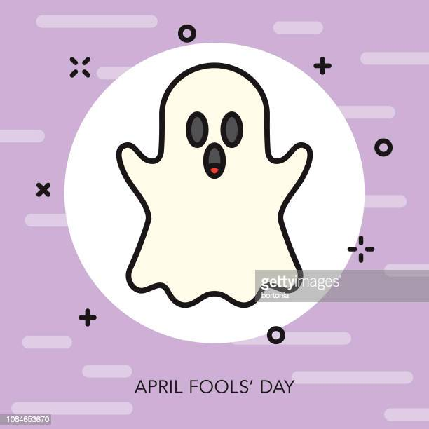 Ghost Thin Line April Fools Day Icon
