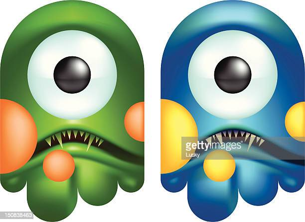 ghosts - cyclops stock illustrations, clip art, cartoons, & icons