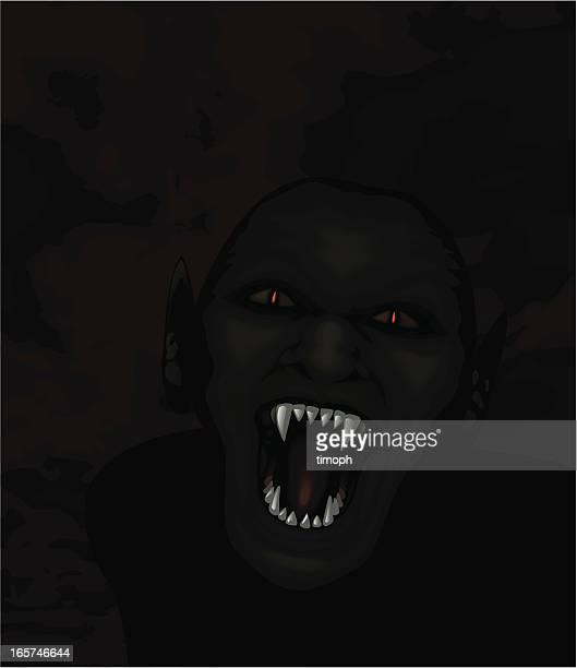 ilustraciones, imágenes clip art, dibujos animados e iconos de stock de ghoul - vampiro