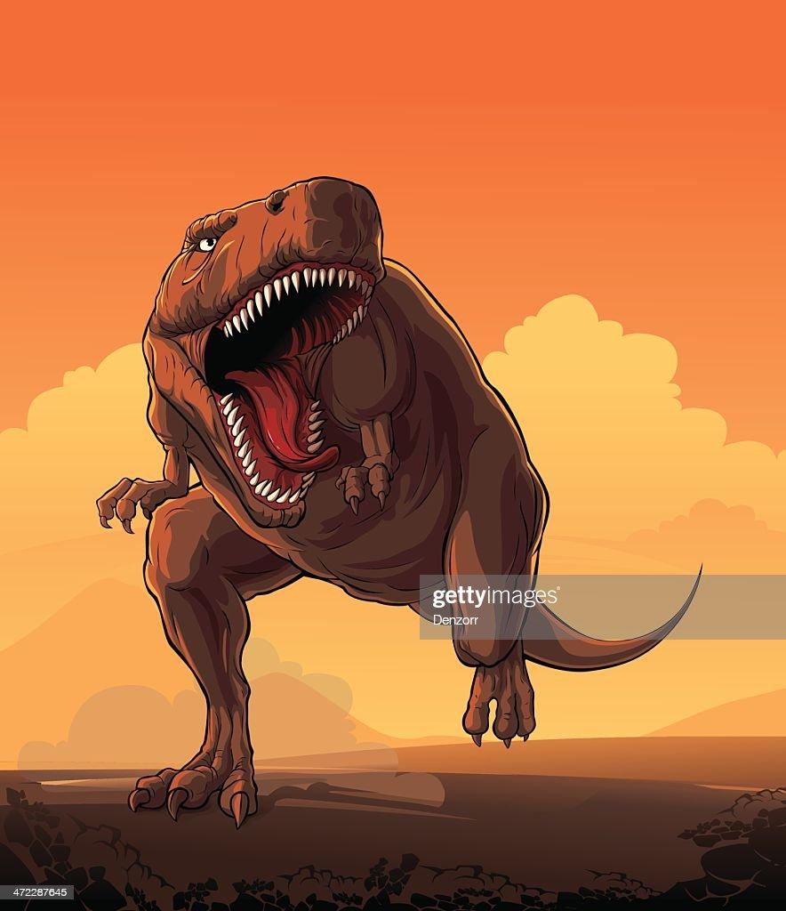 Giant dinosaur: T-rex
