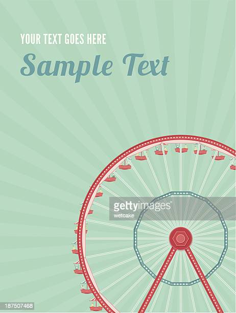 giant ferris wheel - ferris wheel stock illustrations, clip art, cartoons, & icons