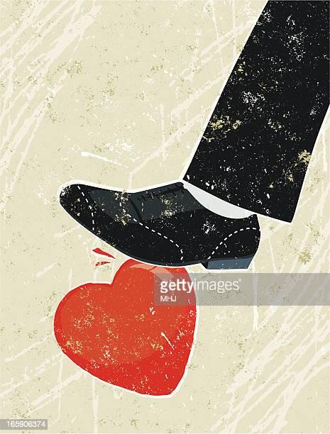 Giant Man's Foot Crushing Heart