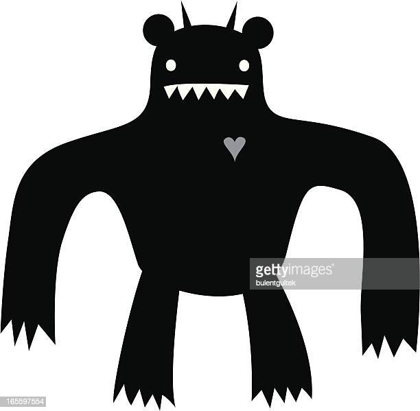 giant monster - animal heart stock illustrations, clip art, cartoons, & icons