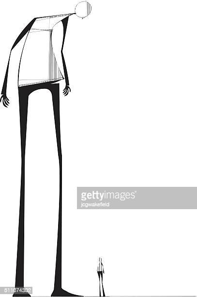 giant - tall person stock illustrations