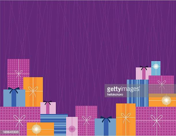 gift backdrop - stack stock illustrations