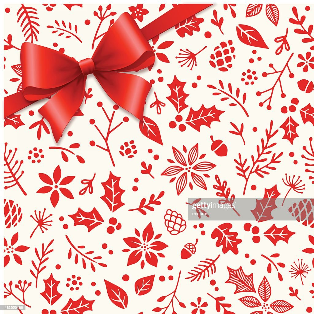Gift Bow Over Seamless Patten