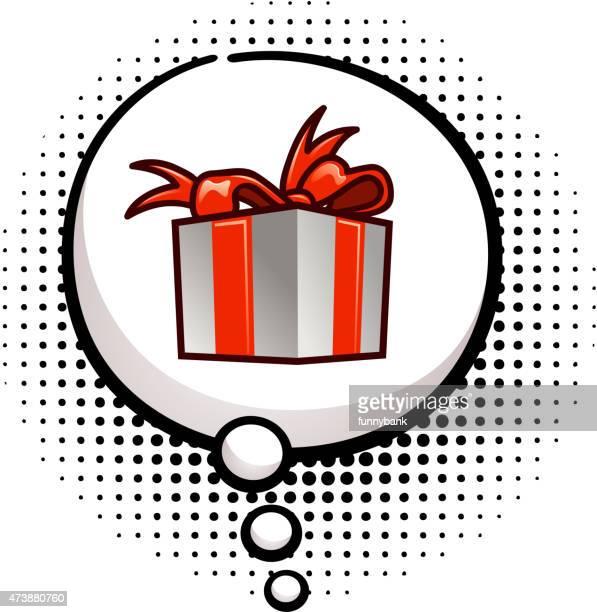 Caja de regalo de pensamiento