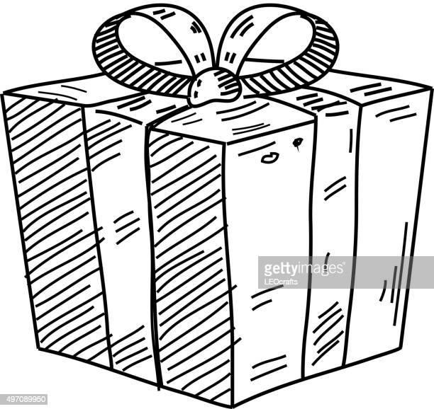 Boîte de cadeau dessin