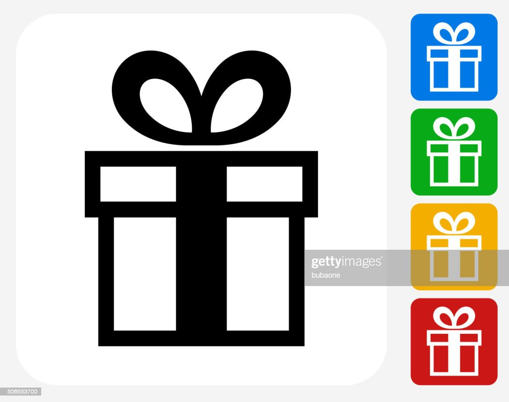 Gift Box Icon Flat Graphic Design