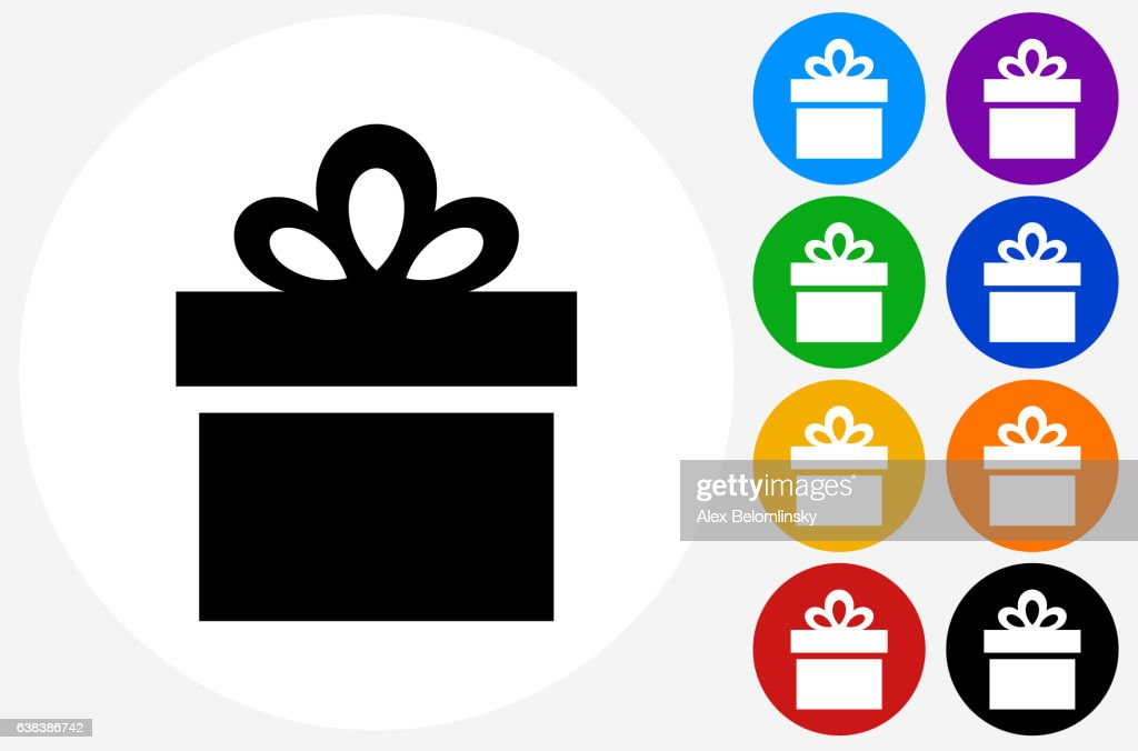 Gift box icon on flat color circle buttons vector art getty images gift box icon on flat color circle buttons vector art negle Gallery