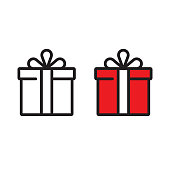 Gift Box Icon Vector Design.
