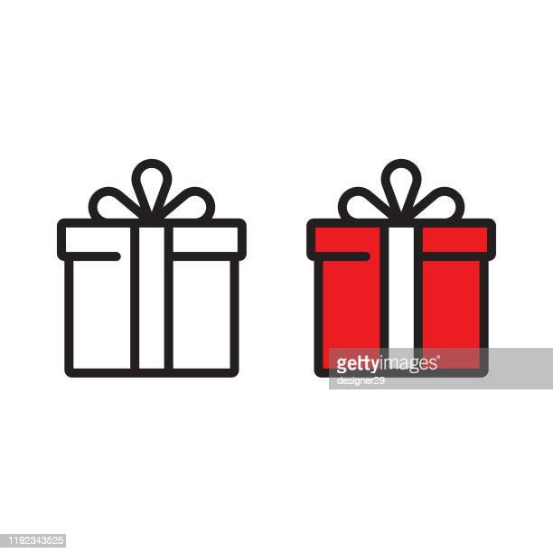 gift box icon vector design. - national holiday stock illustrations