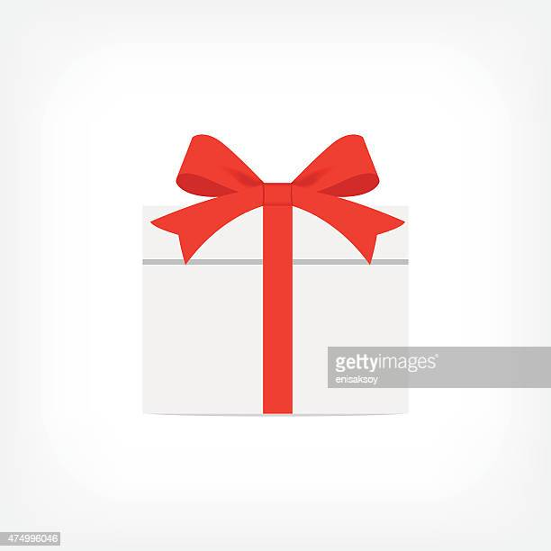 gift box icon - tied bow stock illustrations