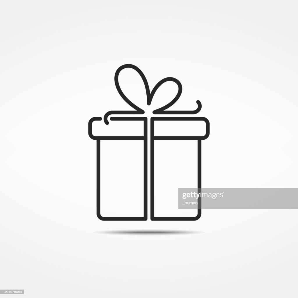 Gift Box Line Icon