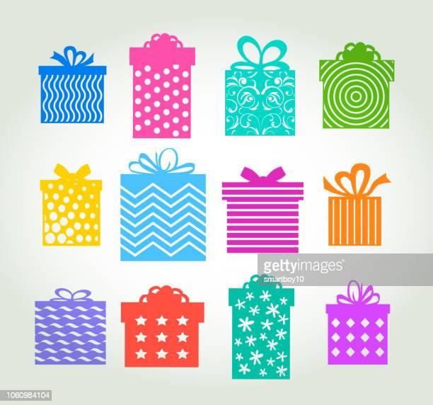 ギフト用の箱または現在 - 誕生日の贈り物点のイラスト素材/クリップアート素材/マンガ素材/アイコン素材