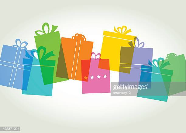 gift box - present - gift stock illustrations