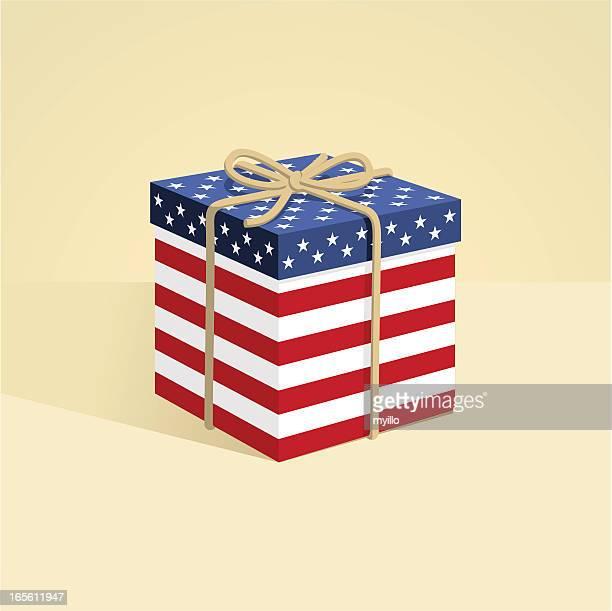 EUA/caixa de presente