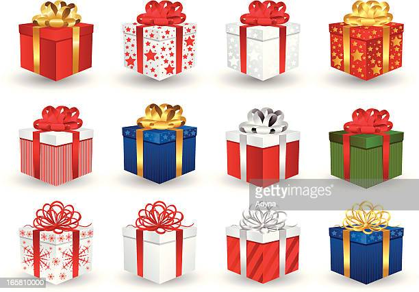 ilustrações de stock, clip art, desenhos animados e ícones de caixa de presentes - caixa de presentes