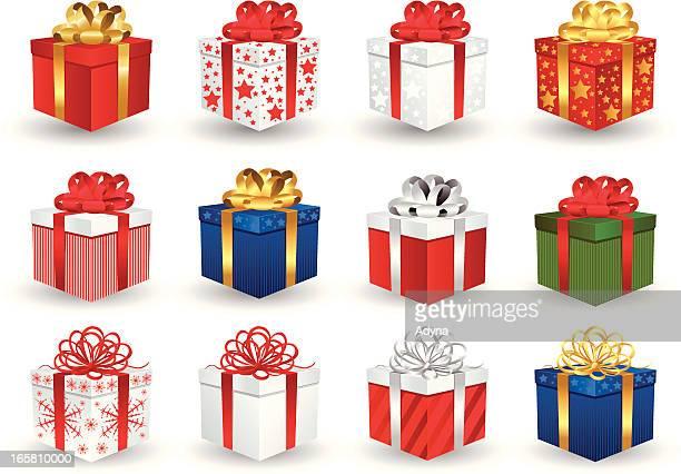 illustrations, cliparts, dessins animés et icônes de coffret-cadeau - cadeau