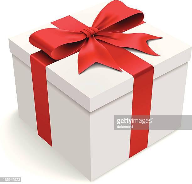 ilustraciones, imágenes clip art, dibujos animados e iconos de stock de caja de regalo - cajaderegalo