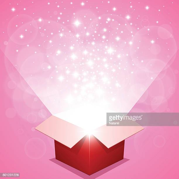 gift box - pink background stock illustrations, clip art, cartoons, & icons