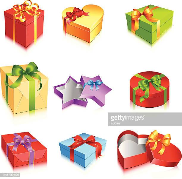 Open gift box top view getty images negle Images