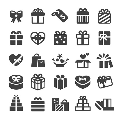 Gift Boxes Icons - Smart Series - gettyimageskorea
