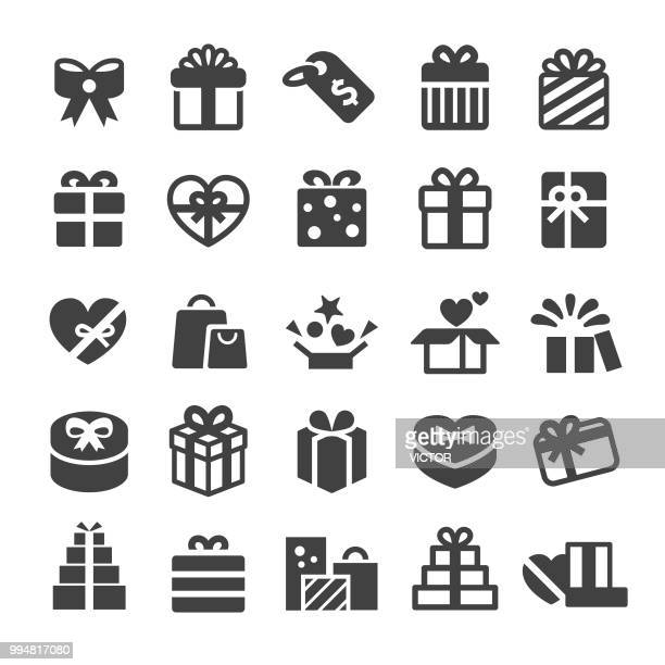 gift boxes icons - smart series - gift stock illustrations