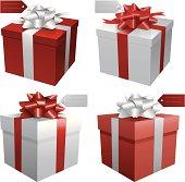 Gift boxes illustration