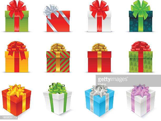 gift boxes - clip art stock illustrations