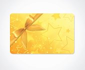 Gift card, Gift coupon, (discount, gift voucher) withs parkling, twinkling stars pattern  (texture)