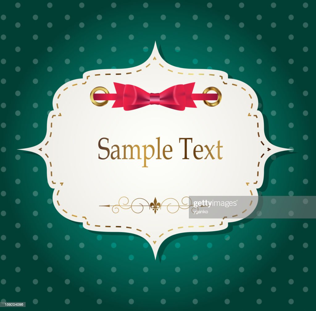 gift card with ribbons, design elements. Vector illustration