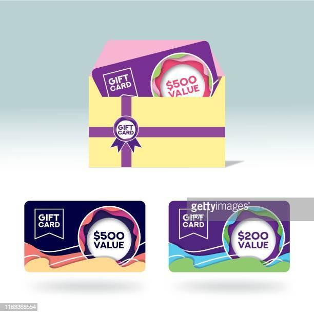 ギフトカード - ベクトルイラストレーション - メッセージカード点のイラスト素材/クリップアート素材/マンガ素材/アイコン素材