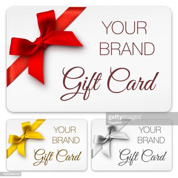 ギフトカードにリボン - メッセージカード点のイラスト素材/クリップアート素材/マンガ素材/アイコン素材