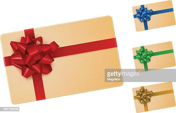 ギフトカードにリボン - 誕生日の贈り物点のイラスト素材/クリップアート素材/マンガ素材/アイコン素材