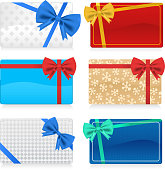 Gift Cards with Color Bow