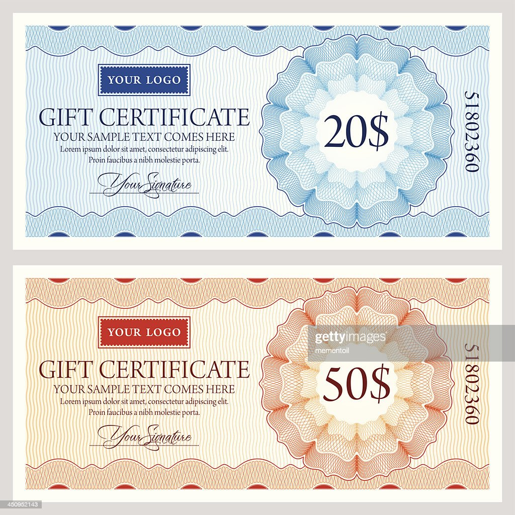 Gift certificate template in two colors vector art getty images gift certificate template in two colors vector art yadclub Gallery