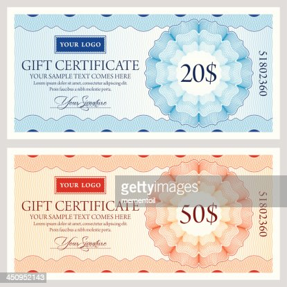 Set of vintage gift certificate design templates vector art keywords yadclub Image collections