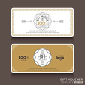 Gift certificate voucher coupon template