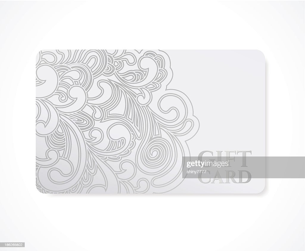 Gift Coupon Discount Card Ticket Solver Floral Pattern Frame Vector ...