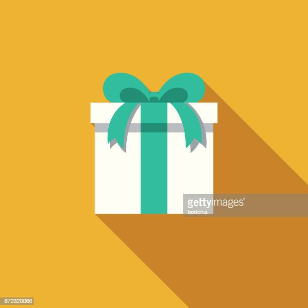 gift flat design party icon with side shadow - christmas present stock illustrations