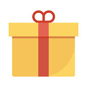 Gift Flat Vector Icon