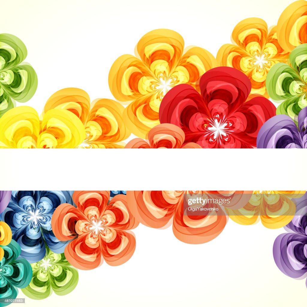 Gift floral design background.