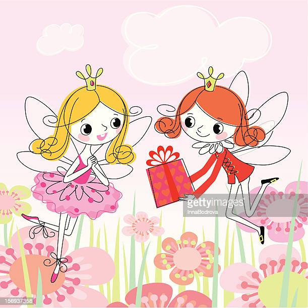 gift for fairy. - princess stock illustrations, clip art, cartoons, & icons